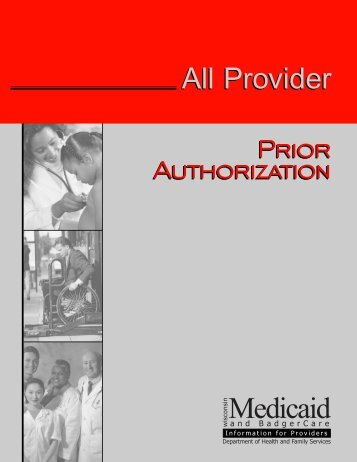 Prior Authorization - Wisconsin.gov