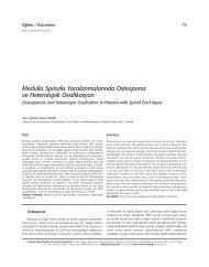 Medulla Spinalis Yaralanmalar›nda Osteoporoz ve Heterotopik ...