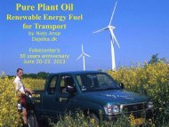 Pure Plant Oil - Nordic Folkecenter for Renewable Energy