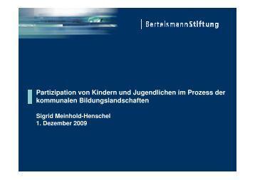 Partizipation von Kindern und Jugendlichen im ... - GanzTag in NRW