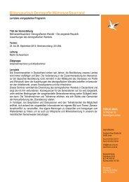 Programm Moehnesee 2012 - Demografie - Forum Unna