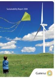 Sustainability Report 2008 - Gamesa