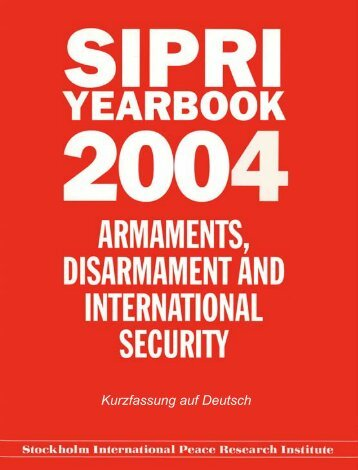 SIPRI Yearbook 2004