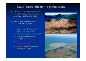 Land-Based Effects Overview - Ministry of Fisheries