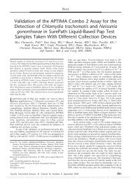 Validation of the APTIMA Combo 2 Assay for the Detection - Gamma ...