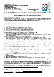 Informationen zur Anmeldung BOS - Staatliche Fachoberschule und ...