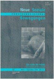 Vollversion (6.26 MB) - Forschungsjournal Soziale Bewegungen