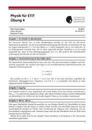 Physik für ETiT Übung 4