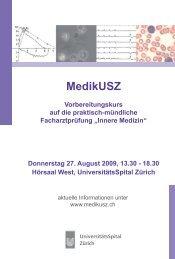 MedikUSZ - Fortbildung - UniversitätsSpital Zürich