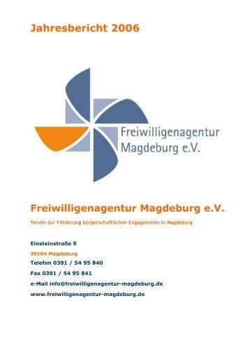 Jahresbericht 2006 - Freiwilligenagentur Magdeburg