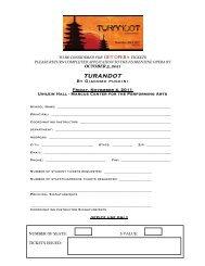 Get Opera-Turandot Ticket Application 2-5 - Florentine Opera