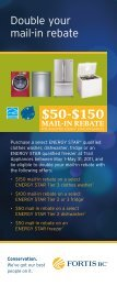 FortisBC Double your mail-in rebate Energy Star
