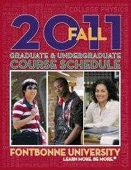 Fall 2011 Course Schedule - Fontbonne University