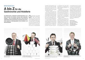 A bis Zfür die Gastronomie und Hotellerie - Hotel & Gastro Union