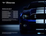 2010 MUSTANG - Ford