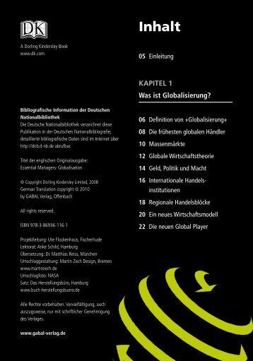 Inhaltsverzeichnis - GABAL Verlag