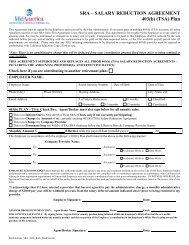Salary Reduction Agreement 403(b) (TSA) Plan - Mount Diablo ...