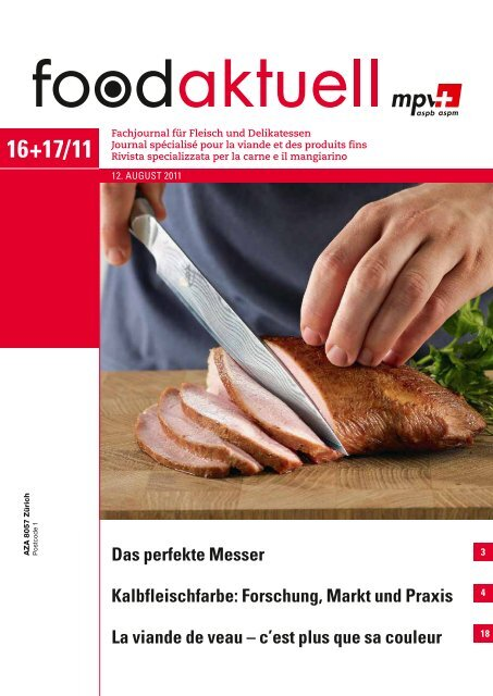 Das perfekte Messer Kalbfleischfarbe: Forschung ... - Foodaktuell.ch