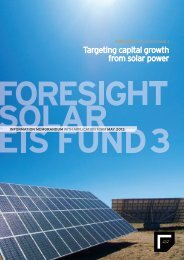 Targeting capital growth from solar power - Foresight Group