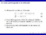 4.2. Geld- und Fiskalpolitik im IS-LM Modell
