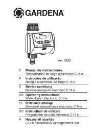 OM, Gardena, Water Timer Electronic C14e, Art 01820-02, 2013-03