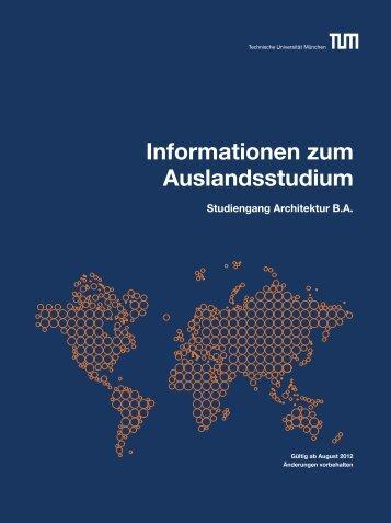 Informationen zum Auslandsstudium - Fakultät für Architektur ...
