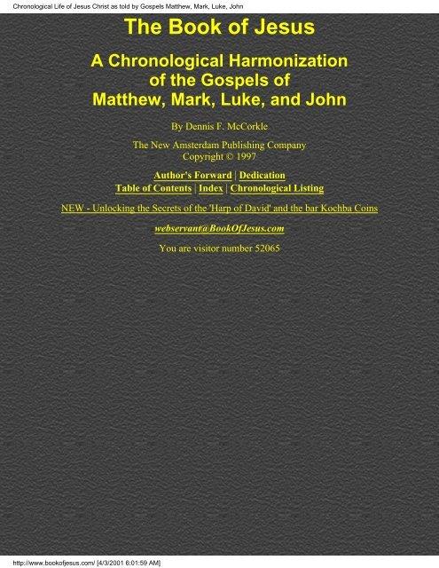 The Book of Jesus - Friends of the Sabbath Australia