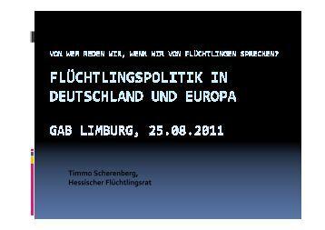Präsentation Hr. Scherenberg 1 25.08.2011