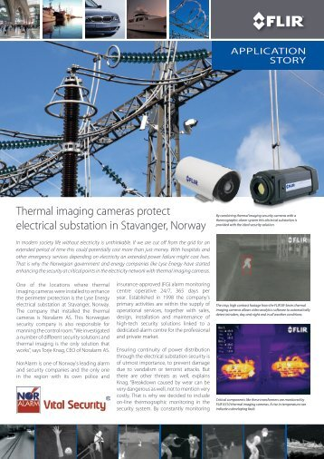 Thermal imaging cameras protect electrical substation ... - Flir Systems