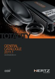 Hertz Catalogue - Four Car Audio