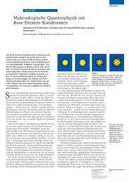 Makroskopische Quantenphysik mit Bose-Einstein-Kondensaten