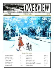 Issue #42 Fall/Winter 2011 - Franklin Hills Residents Association