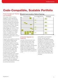 Code-Compatible, Scalable Portfolio - Freescale Semiconductor