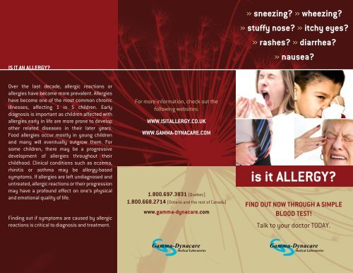 Is It Allergy? [PDF] - Gamma-Dynacare