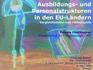 Ausbildungs- und Personalstrukturen in den EU-Ländern - Plattform ...