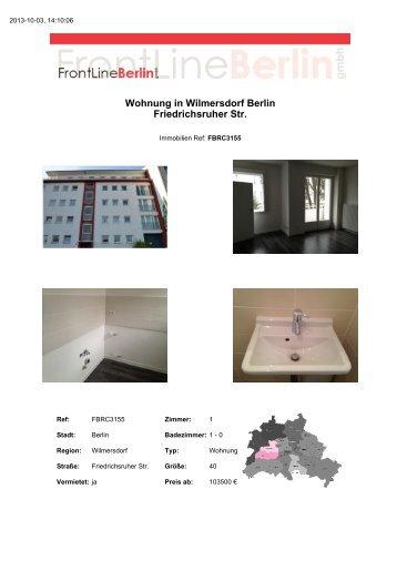 Wohnung in Wilmersdorf Berlin Friedrichsruher Str. - Front Line ...
