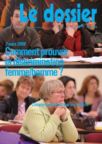 Comment prouver la discrimination femme/homme?