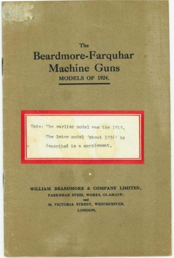 The Beardmore-Farquhar Machine Guns. - Forgotten Weapons
