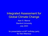 Integrated Assessment for Global Climate Change - Gams