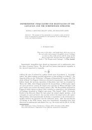 Isoperimetric Inequalities for Eigenvalues of the Laplacian and the ...