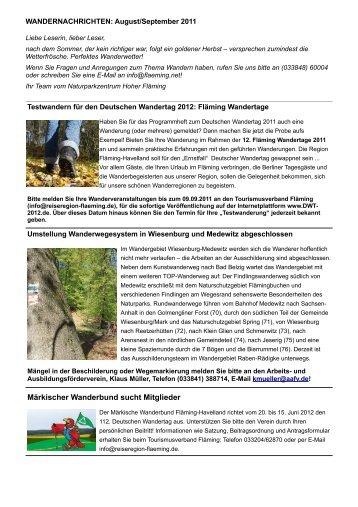 Märkischer Wanderbund sucht Mitglieder - Naturpark Hoher Fläming