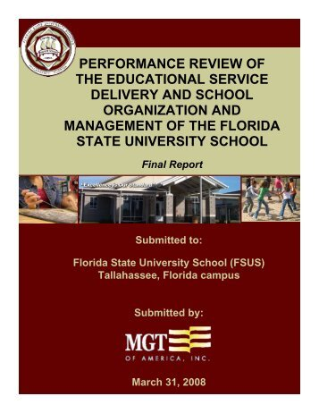 performance review of the educational service delivery and school