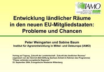 Probleme und Chancen (Peter Weingarten und Sabine Baum