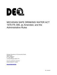Safe Water Drinking Act - Frenchtown Charter Township
