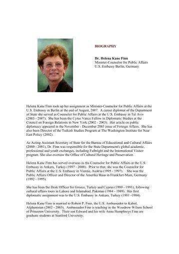 Detailed CV of Dr. Finn