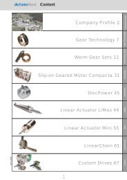 Worm Gear Sets - Framo Morat