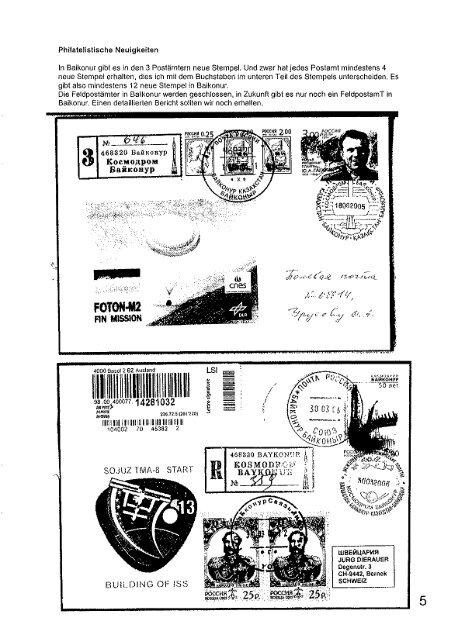 Heft 134 - Gesellschaft der Weltall-Philatelisten, CH