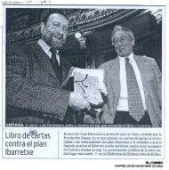 Libro de cartas contra el plan... - Fundación Fernando Buesa