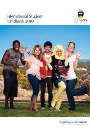 International Student Handbook 2010 - Flinders University