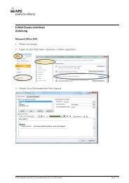 E-Mail-Zusatz einrichten Anleitung